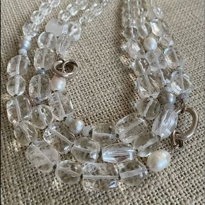 Silpada Sterling Silver and crystal nexklace